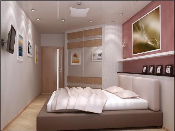 Интерьер спальни 18 кв м