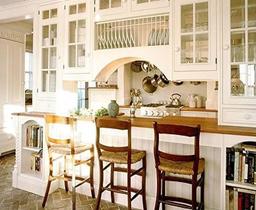 Домашний дизайн интерьера в стиле кантри