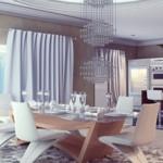 Отличный дизайн кухни-столовой