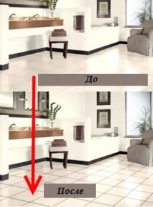 Дизайн кафельной плитки в ванной (до и после)