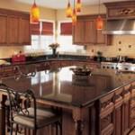 Искусственный камень в интерьере кухни