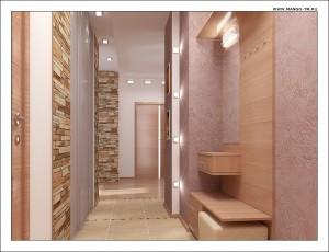 Дизайн маленькой прихожей и коридора