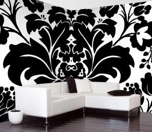 Черно-белые обои для стен в оформлении ...: inner-design.ru/cherno-belye-oboi-dlya-sten-v-oformlenii-kvartiry