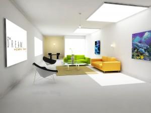 Цвет обоев в гостиной