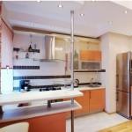Кухни дизайн с барной стойкой