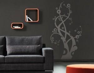 Дизайн стен обоями