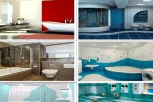 Дизайн ванных комнат - фотогалерея