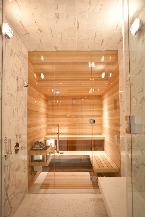 Sauna in bathroom